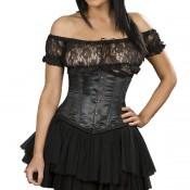 Serre-taille Candy Satin Noir