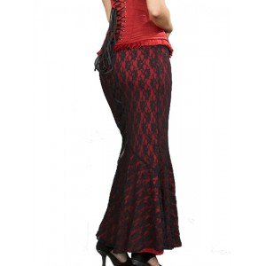 Jupe goth Fishtail Red