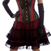 Jupe gothique Lolita red satin