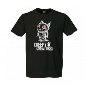 T-shirt gothique Creepy Black
