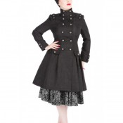 Manteau black brocade
