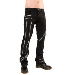 Pantalon punk Zipper